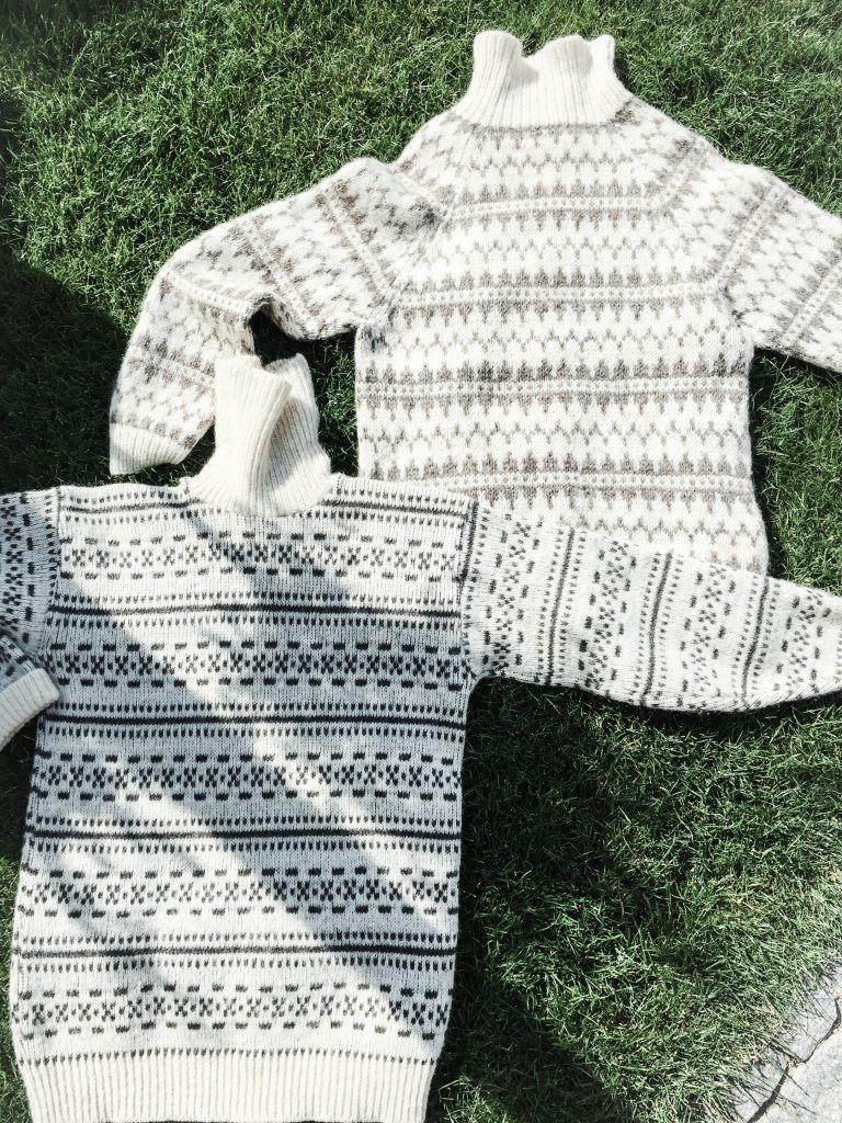 Sweaters på græs