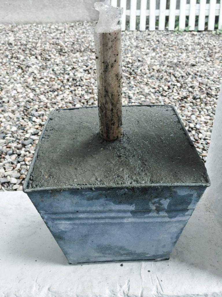 beton diy lampefod