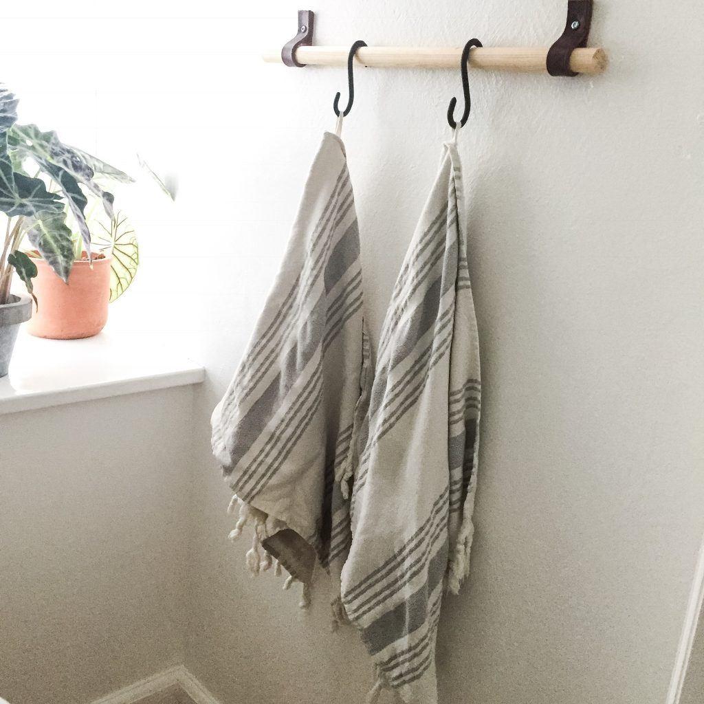 Diy-knag til håndklæder