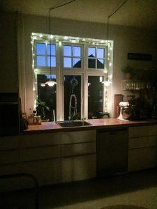 lyskæde jul køkken