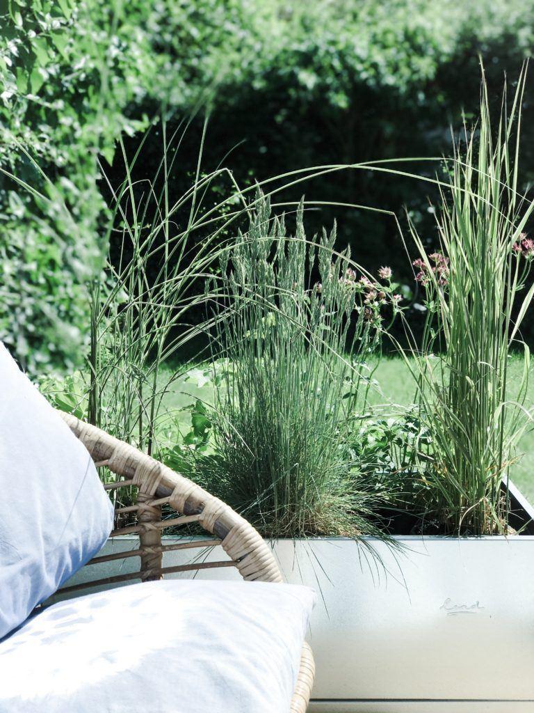 lit surélevé inspiration vie extérieure jardin terrasse terrasse vie plantes graminées